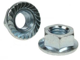 (25 pcs) 3mm Serrated Flange Nut