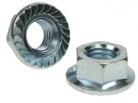 (100 pcs) 4mm Serrated Flange Nut Stainless