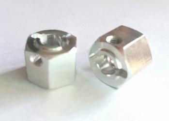 (2 pcs) Aluminum 12mm x 6mm Hex