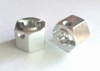 (2 pcs) Aluminum 12mm x 10mm Hex
