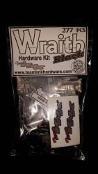 Axial Wraith Black Oxide Hardware Kit