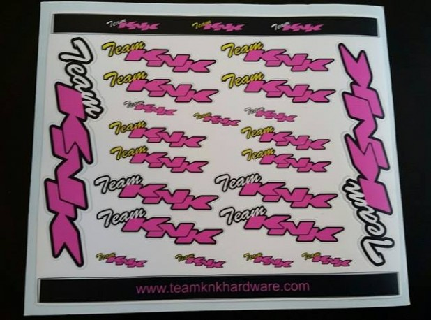 Team KNK Sticker Sheet PINK