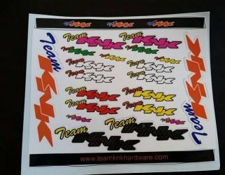 Team KNK Sticker Sheet PINK