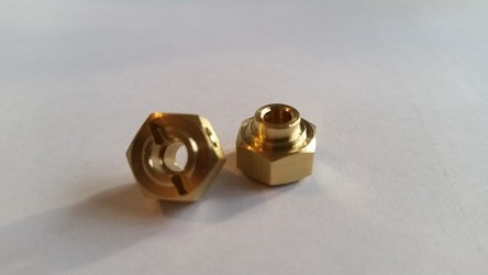 (2 pcs) Brass 12mm x 6mm Hex with step