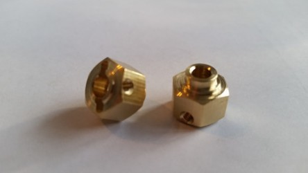 (2 pcs) Brass 12mm x 8mm Hex