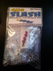 (184 pcs) Traxxas Slash 4wd Stainless Hardware Kit