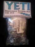 (338 pcs) Axial Yeti Stainless Hardware Kit